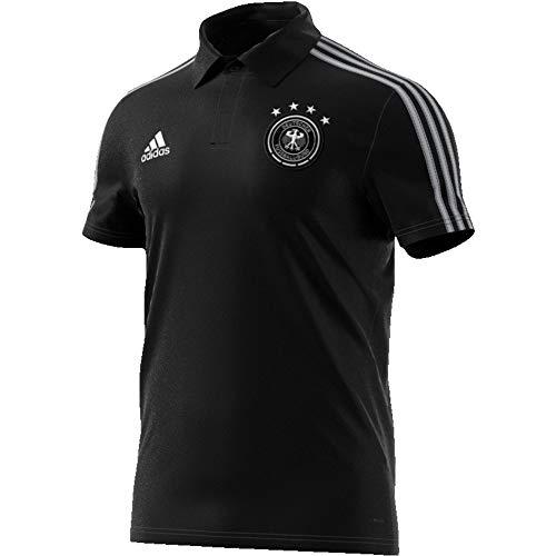 adidas DFB Co Polo T-Shirt für Herren XS Schwarz (Schwarz/Grau Zwei)