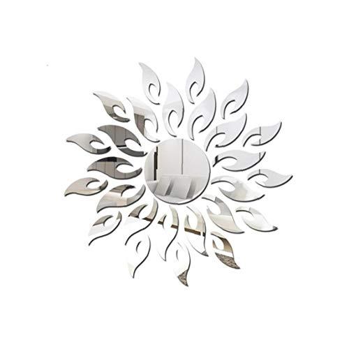 3D Patrón De Plata Acrílico Espejo Espejo Etiqueta Hoja De Bricolaje En Casa Decoración De La Pared De del Espejo De La Etiqueta