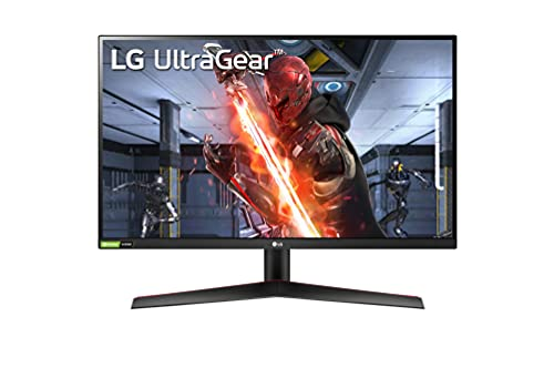 "LG 27GN600 UltraGear Gaming Monitor 27"" Full HD IPS 1ms HDR 10, 1920x1080, G-Sync Compatible e AMD FreeSync Premium 144Hz, HDMI 2.0 (HDCP 2.2), Display Port 1.4, Uscita Porta AUX, Flicker Safe, Nero"