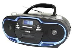 NAXA Electronics Portable MP3/CD Player AM/FM Stereo Radio and USB Input (Black/Blue),Naxa Electronics,NPB-257 BL