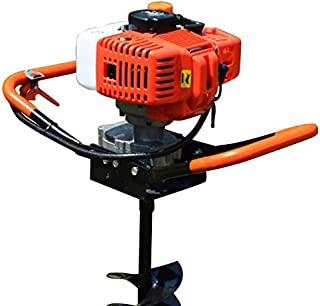 BoTaiDaHong 52CC Post Hole Digger Gas Powered Earth Auger Borer Fence Ground Drill Heavy Duty Gas Powered Post Hole Digger +3 Bits