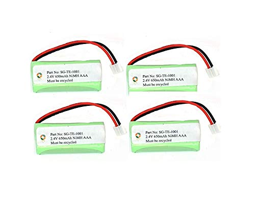 SPS Brand 2.4V 650mAh Replacement Battery for VTech EMBARQ eGO (4 Pack)