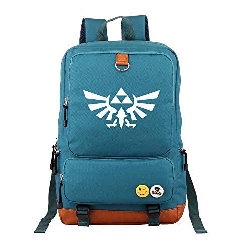 The Legend of Zelda Rucksack Guter schwarzer Zelda-Logo-Segeltuchtasche-japanischer Anime-Unisexschulrucksack für Mädchen-Jungen-Reise-Rucksack (4)