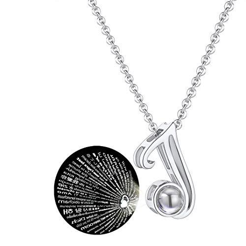 GoldChic Collar Te Amo con Letras Iniciales de Nombre Collar de Letra Chapado en Platino