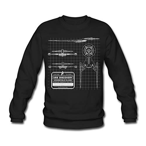 Star Trek Discovery Prototype Épure Sweat-Shirt Unisex, 3XL, Noir