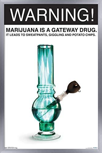 Trends International Marijuana-Gateway Drug Wall Poster, 24.25″ x 35.75″, Multi
