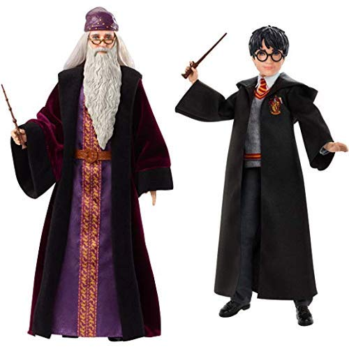 Mattel FYM54 - Harry Potter Dumbledore Puppe &  FYM50 - Harry Potter Puppe