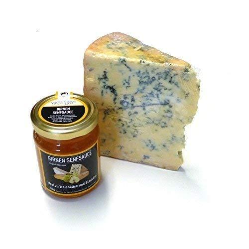 Blue Stilton Formaggio Formaggio blu 400 g e Salsa di mostarda di pere 180 g