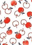 手ぬぐい 梨園染め「りんご 607」《戸田屋商店》白地/アップル/果物/フルーツ/手拭い/てぬぐい メール便5枚まで