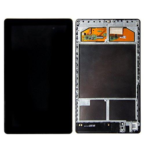 SKILIWAH® Pantalla Táctil LCD con Marco para ASUS Google Nexus 7 (2Gen 2013) Tablet Digitalizador Recambio Display Versión WiFi,Color Negro