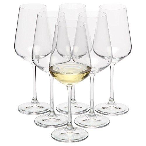 VANILLA SEASON Bohemia Cristal - Juego de 6 copas de vino blanco, 250 ml, copas de vino, copas de vino, copas de vino, copas de cristal, copas de vino blanco con palo, Moreton