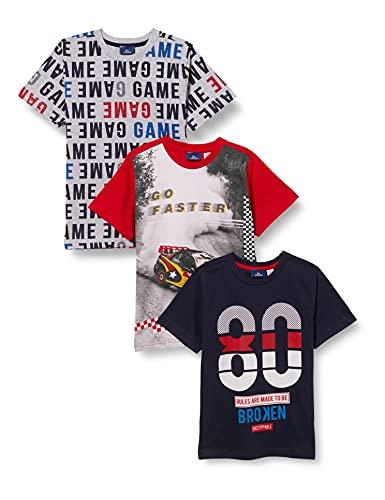 Chicco 3 PZ T.Shirt Manica Corta 9067622 Set di Magliette per Bambino e Neonato, 000, 8 Anni (Pacco da 3)