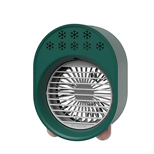 Mini ventilador portátil USB recargable refrigerador de aire con luz de noche humidificador personal