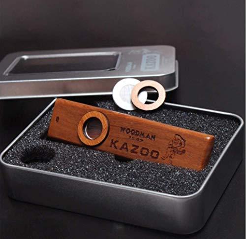 takestop® KAZOO muziekinstrument van hout met metalen box muziekinstrumenten Optimale metgezel voor gitaren Ukelele Purple Piano Keyboard cadeau-idee voor kinderen volwassenen