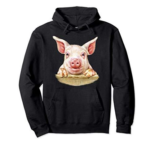 Granero de cerdos de cría de animales de granja Sudadera con Capucha