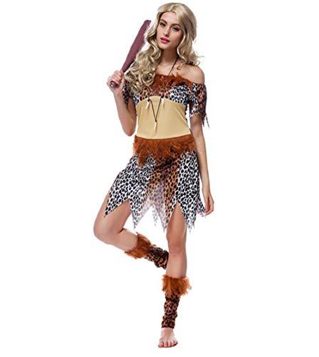 Disfraz sexy de leopardo para mujer, indios nativos de princesa de tribu