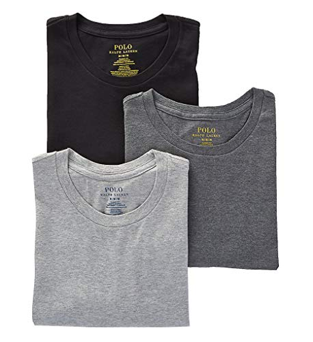 Polo Ralph Lauren Classic Fit w/Wicking 3-Pack Crews Andover Heather/Madison Heather/Black XL