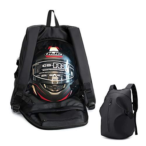 ALECLOT ヘルメット バッグ バイク用 リュック 大容量 防水 サック バックパック デイパック 自転車 多機能 キャンプ ツーリング バイク用品 メンズ レディース