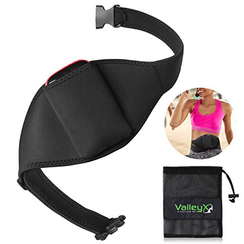 ValleyX - Mic Belt for Fitness Instructors - Vertical Microphone Transmitter Carrier Belt - Fitness Class/Public Speaking/Theatre - Durable and Machine Washable - Carrying Mesh Bag Included