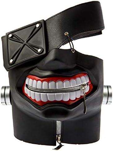 damdos Anime Masks Cosplay Props Tokyo Ghoul Kaneki Masks Ken Mask Cosplay Wig Adjustable Zipper product image