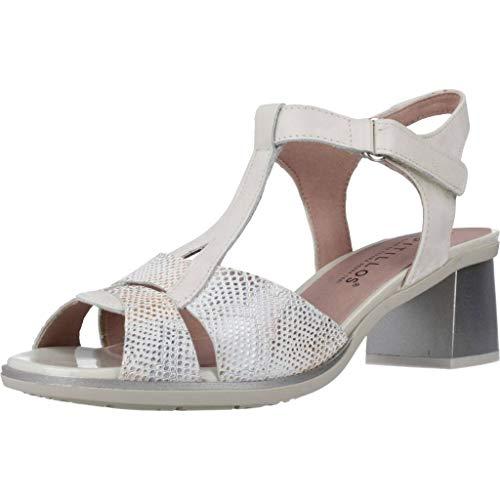 Pitillos Zapatos Cordones Mujer 6172 V20 para Mujer Plateado 38 EU