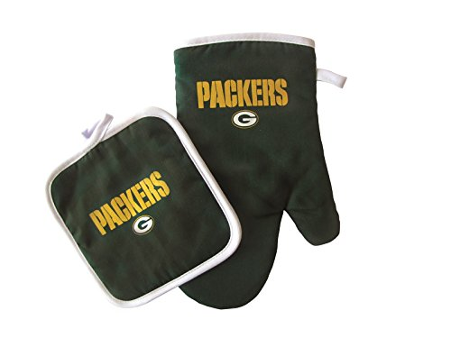 Pot Holder Green Bay Packers with Oven Mitt