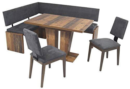 MSZ Design Eckbank Eckbankgruppe Essgruppe Milano 150 x 180 cm Old Wood Vintage