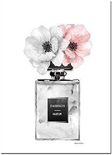 oioiu Moda Pared Arte Perfume Labios Cartel nórdico impresión tacón Alto Lienzo Tienda decoración Pintura Mujer Imagen de ...