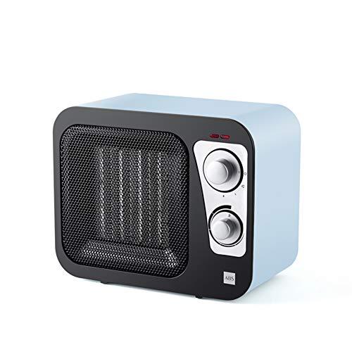 HM&DX Portátil PTC Cerámica Calefactor Ventilador, Retro Radio Calefactor eléctrico Bajo Consumo...