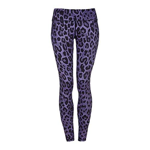 MEIHAOWEI Leggings Push-up Sexy Leopardati Vita Alta Pantaloni Allenamento in Poliestere Allenamento Donna Pantaloni Slim Activewear