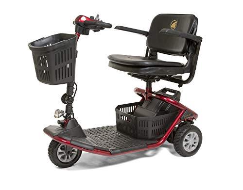 Golden Technologies - LiteRider - Lightweight Travel Scooter - 3-Wheel - Red