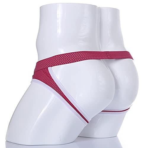 SEXYSY Hommes Jockstraps Tongs G Cordes Lingerie Sexy sous-vêtements Gays Hommes sous-vêtements Taille Basse Renflement Poche Slips Culottes masculines t-Back