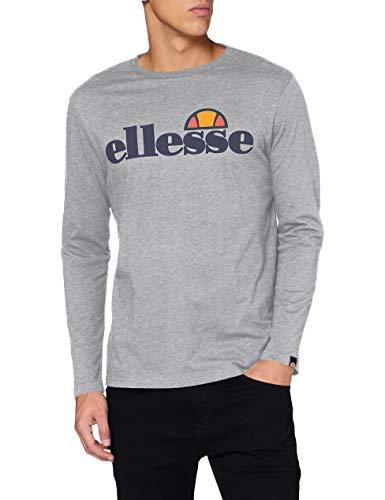 Ellesse SL Grazie LS tee Camiseta, Hombre, Grey Marl, XS