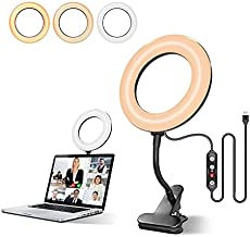 Video Conference Lighting Kit - TODI 6'' Ring Light for Computer with RGB Modes, Upgrade Zoom Light/Video Light/RGB Ringlight Compatible with Remote Working/Live Streaming/Video Recording & YouTube