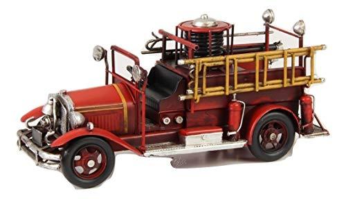 Deko Feuerwehr Wagen Blech Auto Modell Retro Vintage Nostalgie Länge 36,2 cm