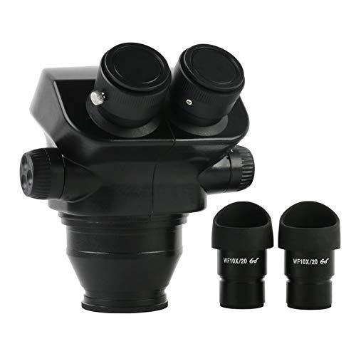 Manyao 7-45x 7x-50x Microscopio estéreo Super Wide Field Cabezal Binocular + WF10X / 20mm Ocular Goma Guardias Eye-Guardias Microscopio Accesorios (Color : Black)