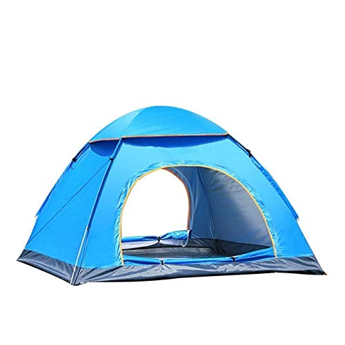 Mdsfe Outdoor Automatic Tents Camping Waterproof Tents 3-4 People Beach Camping Showers Speed ​​Open Double Tent-blue,A7