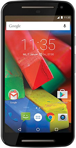 Motorola Moto G 2. Generation Smartphone (5 Zoll (12,7 cm) Touch-Display, 8 GB Speicher, Android 5.0) schwarz
