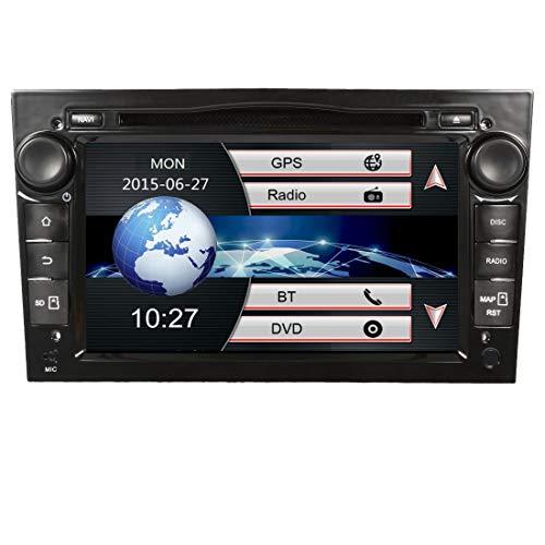 Autoradio 7 Pollici Stereo 2 Din Auto Radio per Opel Vauxhall Corsa Astra Zafira Antara con Navigatore GPS Bluetooth CD DVD Touch Screen Video USB EU Map SD Card+Telecamera inversa (Nero-W)