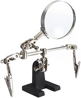 4X Helping Hand Magnifier Magnifying Loupe 2 Alligator Clamp Jeweler Watch Tool by Harbor Freight Tools