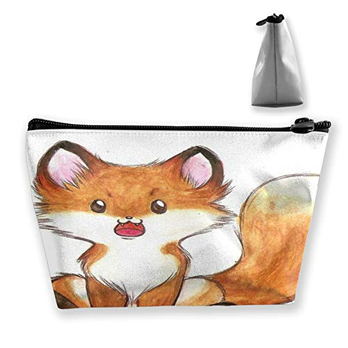 Little Fox Animal Bolsa de maquillaje para monedero, bolsa de maquillaje de viaje, mini bolsa de cosméticos multifunción bolsa de almacenamiento impermeable para mujeres y niñas