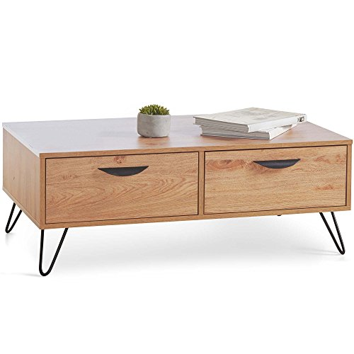 VonHaus 2 Drawer Coffee Table – Coffee Tables With Storage – Modern Coffee Table For Living Rooms And Lounges