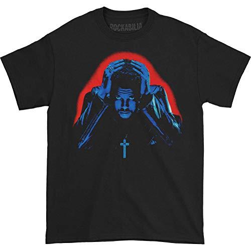 Weeknd Men's Starboy Album Cover T-Shirt X-Large Black