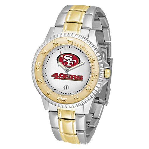 Game Time NFL San Francisco 49ers Mens Two-Tone CompetitorWrist Watch, White, One Size