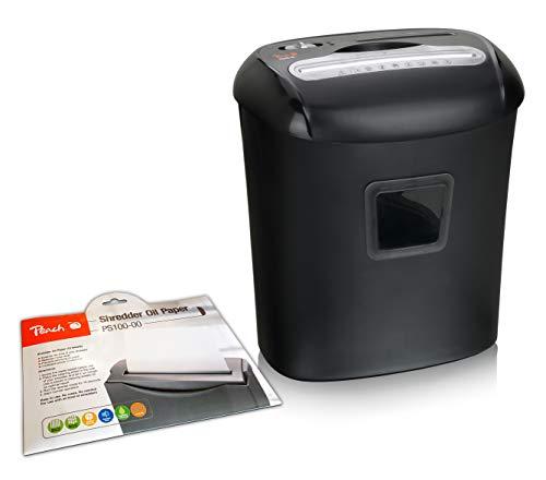 Peach PS500-40A Partikelschnitt Aktenvernichter inkl. 12x Öl Papier | 10 Blatt | 21 Liter | P-4 | Papier, CDs, Kreditkarten | leistungsfähiger Partner | Datenschutzgrundverordnung DSGVO 2018