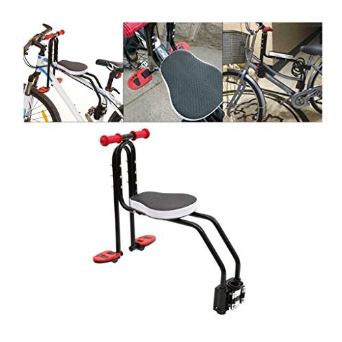 HAen Children's Bicycle seat, Front-Mounted Baby Chair, Adjustable Child Safety seat for Children 2-6 Years Old, Suitable for all mountain bikes and some leisure bicycles (MAX 110 pounds)
