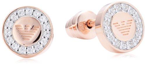 Emporio Armani EG3054 - Pendientes de plata de ley con circonita