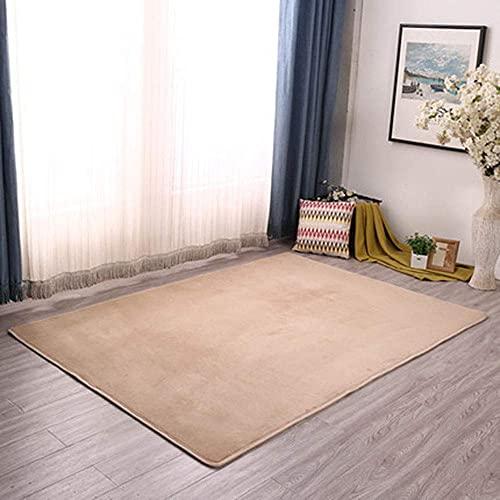 HYLX Kinderteppich, Teppich, Als Krabbeldecke Fürs Kind, Teppich Wohnzimmer Stuhl soffa Matt Das Schlafzimmer Matta Yogamatte Und Übungsauflage Geeignet, 160X250cm, Kamel
