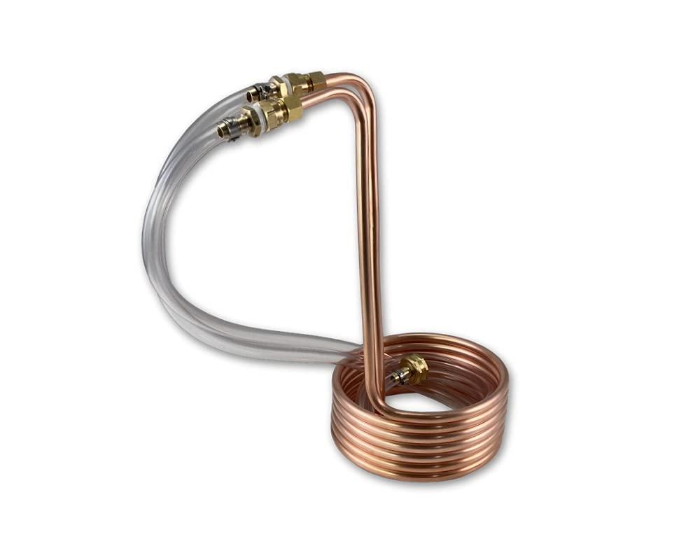 Coldbreak Homebrew 1-3 Gallon Batch Copper Immersion Wort Chiller, 3/8