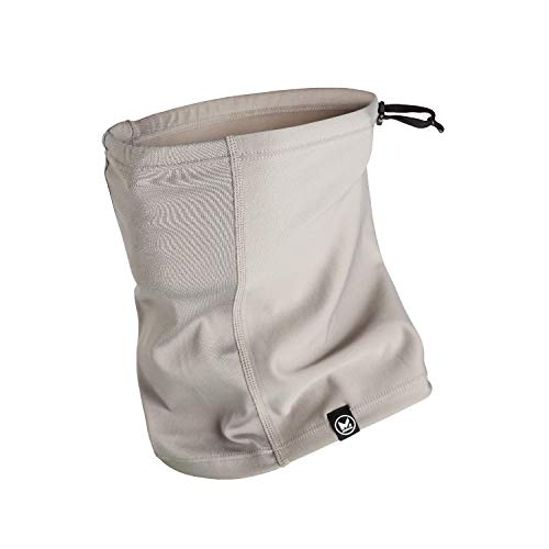 Mission All Season Neck Gaiter, Adjustable Draw cord, Face Cover, Breathable Fabric, Reusable & Machine Washable, UPF 50 (Frost Grey)
